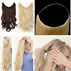 Long As Remy Hair Extensions Curly Straight Wire Crown Apply Full Head Hair 3HF