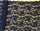 """Black Cord Lace Extra Wide 23 cm/9"""" Table Runner Goth"""