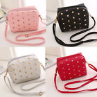 Womens Small Handbag Stud Purse PU Leather Crossbody Messenger Shoulder Bag New
