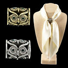 Women Buckle Pins Retro Owl Brooch Pin Scarf Clips Pins Scarf Buckle Pin Fashion