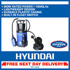 Hyundai Electric Submersible Clean Water Pump Flood Drainage Pond 900w