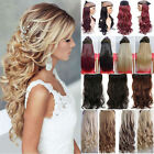 100% Real As Human New Thick Remy Clip In Hair Extensions Full Head Brown UK Fy5