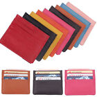 New Mens Womens Leather Credit Card ID Holder Slim Bank Pocket Case Bag Wallet
