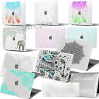 Rubberized Hard Ethnic Printing Cutout Case Cover For Macbook 11/13/15 Laptop+kb