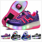 Kids LED Light  Wheels Roller Skate Shoes Youth Boys Girls Unisex Adults Sneaker