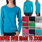 Ladies Missy Fit Lightweight Cotton Long Sleeve T-Shirt Womens Blouse Top S-2XL