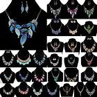 Stylish Women Ladies Charm Crystal Choker Chain Chunky Statement Bib Necklace