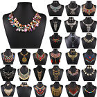 Ladies Charm Jewelry Pendant Chain Crystal Choker Chunky Statement Bib Necklace