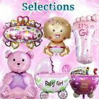 SELECTIONS BABY GIRL BOY SHOWER Foil Balloons Decor Birthday Party Supply lot D