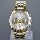 Luxury Fashion Mens Stainless Steel Business Analog Quartz Wrist Watch