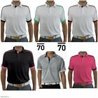 New Sub70 Erwin Golf Tour Performance Stripe Polo Shirt Top SubSeventy Free P&P