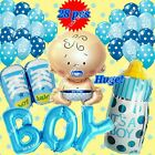 SELECTIONS BABY BOY GIRL SHOWER Foil Balloons Decor Birthday Party Supply lot T