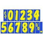 7 1/2 Inch Blue & Yellow Adhesive Number  (multiple item shipping discount)