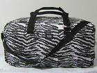 Large NEW VICTORIA SECRET PINK TRAVEL Zebra CARRY ON BEACH WEEKENDER DUFFLE BAG