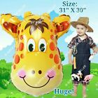 HUGE GIRAFFE SAFARI & BARN ANIMALS BALLOONS Decor Shower Birthday Party Supplies