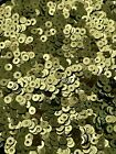 Sequins Tiny 3mm Avocado Olive Green Metallic Round Flat Choose Pack Size