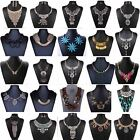 Pendant Chain Jewelry Women Bib Statement Crystal Charm Collar Necklace Choker