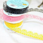 Decorative Tape Lace Sticker Stationary Scrapbook Ideas Self Adhesive Gift Cute