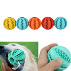 Rubber Ball Chew Treat Cleaning Pet Dog Puppy Cat Toy Training Dental TeethingLA