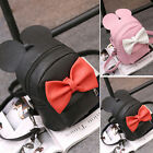 Women Ladies Girls Cute Mini Backpack Kawaii Bowknot Shouders Bag School Bookbag