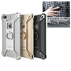 For iPhone 7 /7 Plus Metal Bumper Frame Case Cover With Grip Ring Holder Stand