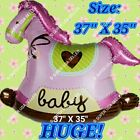 HUGE! BABY GIRL & BOY HORSES ANIMALS BALLOONS Decor Shower Birthday Party Supply