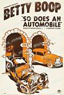 Betty Boop in So Does an Automobile 1939 Vintage Movie Poster Reprint $25.95 USD