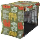 Molly Mutt Elephant Parade Dog Crate & Kennel Cover - Machine Washable Cotton
