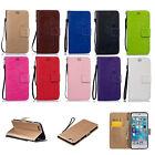 For Sony Xperia Phone PU Leather & TPU Wallet Stand Flip Pure Color Cover Case