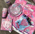 Party matching cups plates serviettes foil balloon tablecloth baloon Princess