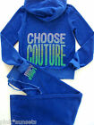 Juicy Couture Blue Tracksuit Choose Couture Velour Hoodie Pants M S