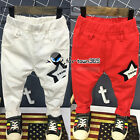 2017 Spring Autumn Boy Girl Baby Child Kids Hero Star Casual Pants Trousers 2-7Y