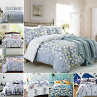 Luxury 100% Cotton Duvet Cover with Pillow Case Quilt Cover Bedding Set All Size image
