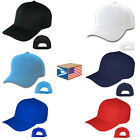 PRO BASEBALL CAP SOLID Black BLANK CURVED ADJUSTABLE SPORTS HAT 6 COLORS CHOOSE!