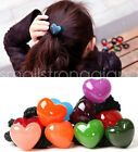Cute Women Girl Candy color Heart style Hair Band Rope Scrunchie Ponytail Holder