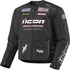 Icon™ Men's MEDIUM Victory Hero Leather Armored Motorcycle Jacket - 2810-1546