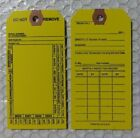 1-500 YELLOW 4-YEAR FIRE EXTINGUISHER  INSPECTION  Service TAGS WITH FASTENERS