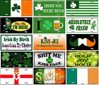Irish Lucky Shamrock Metal License Plate Saint Patrick's Day Pub Wall Sign SB#LP