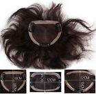 100% human hair replacement top piece wavy curly wiglet clip in/on for men women