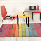 Flair Rugs Illusion Candy Stripe 100% Wool Hand Tufted Rug, Multi