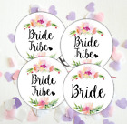 Bride Tribe Floral Hen Do Party Night Stickers Bachelorette Labels Pink Wedding