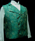 Frontier Old West Pioneer Victorian Regency Pirate brocade double breasted S-3X