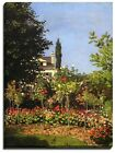 Canvas Print, Claude Monet, Garden in Bloom at Sainte-Addresse, 1866