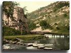 Canvas Print Wall Art Dovedale, stepping stones, Derbyshire