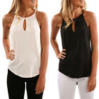 Women Summer Halter Casual Ladie Tops Blouse Sleeveless Solid New Vest Shirt