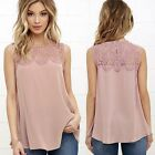 Fashion Women Summer Lace Vest Top Sleeveless Blouse Casual Tank Tops T-Shirt AY