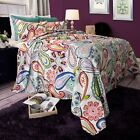 Paisley Floral Reversible Quilted Blanket Bedspread Twin Queen King image