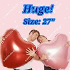 """27""""/18"""" HEARTS Foil Balloons Valentines Shower Wedding Birthday Party Supply lot"""