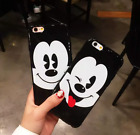Cute mickey mouse Sticking tongue IMD smooth Soft Case For iPhone 6/6S/7/7 Plus