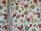 Dutch Treat Birds on White/ Pale Blue 100% cotton Fabric from Riley Blake